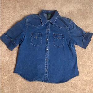 Lauren Jeans Co. denim camp shirt
